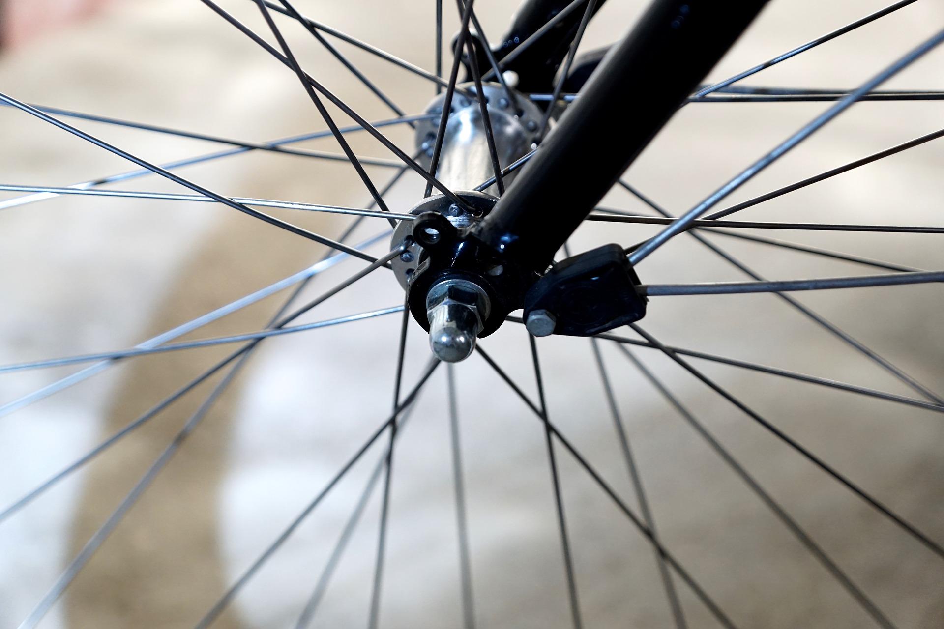 Rayons d'une roue de vélo