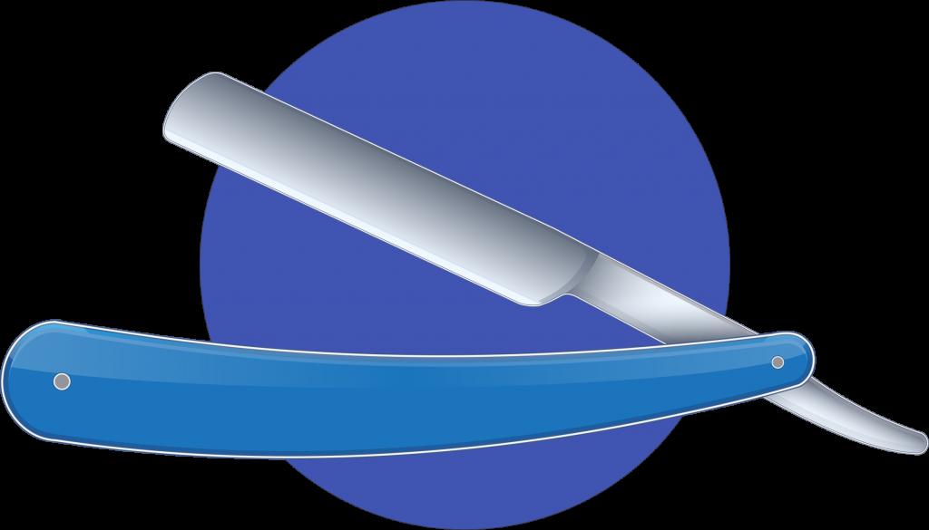 Squalean | icône d'un rasoir