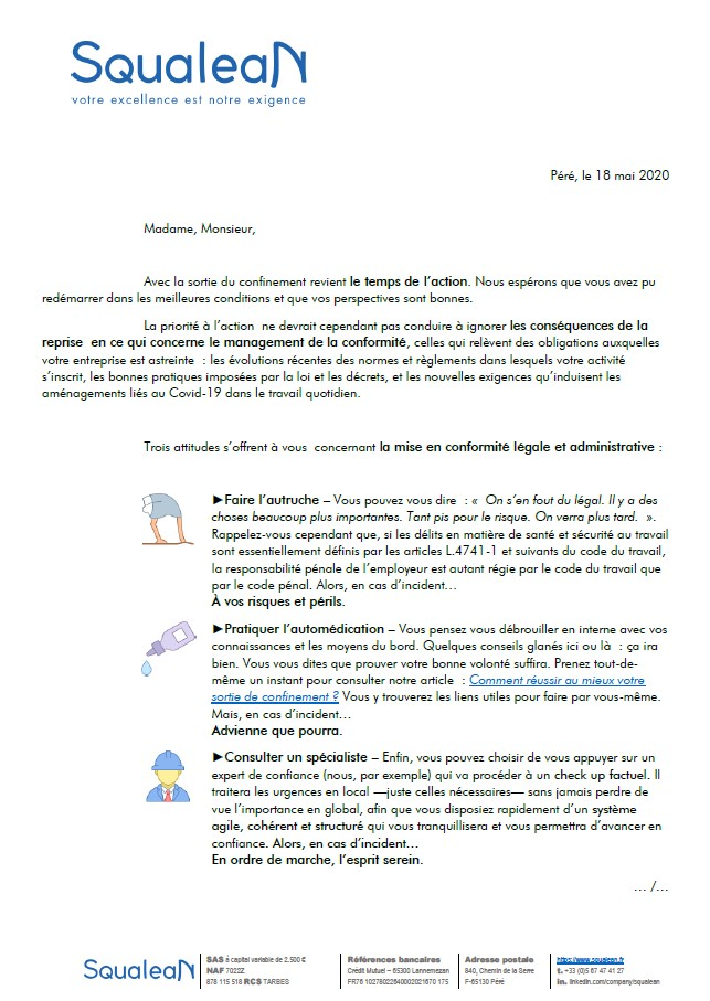 Vignette courrier déconfinement