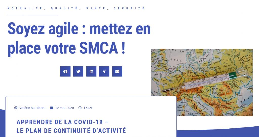 Copie d'écran blog SMCA