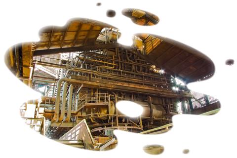 Intérieur d'une usine de process